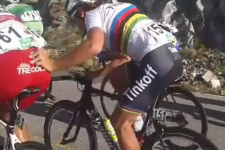 Peter Sagan helping hand (source Facebook video still).JPG