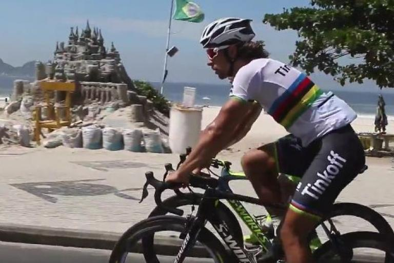 Peter Sagan recces Rio Olympic road race course (Tinkoff facebook video still).JPG