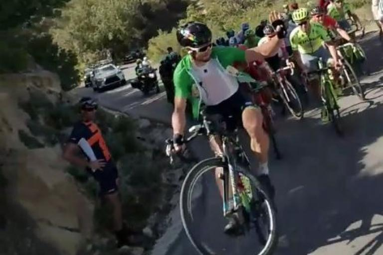 Peter Sagan Tour of California wheelie Instagram video still (user Ron Hirshman).JPG