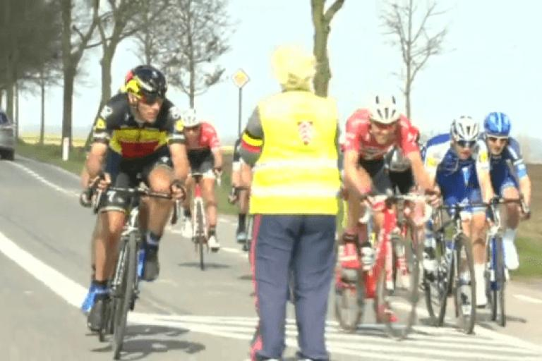 Philippe Gilbert and 3 Days of De Panne marshal.PNG
