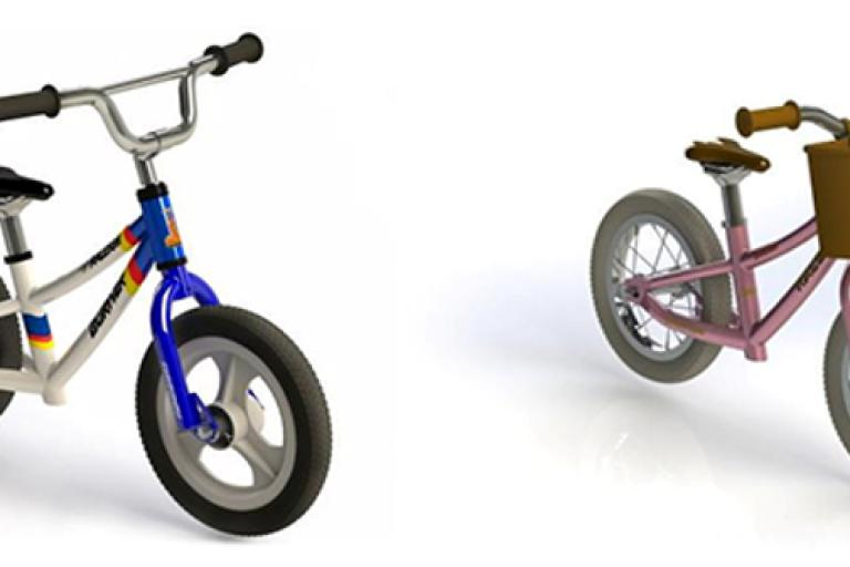 Raleigh Burner and Sherwood balance bikes.PNG