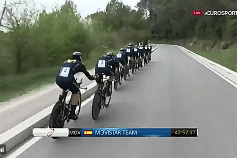 Rojas Catalonia team time trial push TV still.PNG