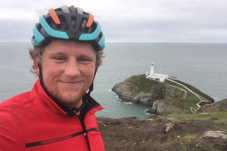 Sam Hayes at South Stack lighthouse (via Twitter).jpeg