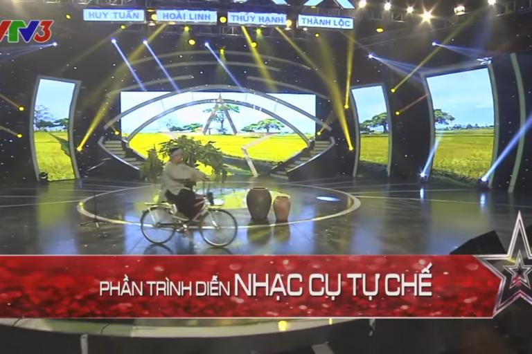 Got Talent Global musical bicycle