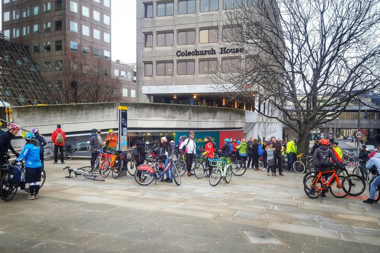 Start of the 2018 Christmas Day Ride (picture Simon MacMichael)