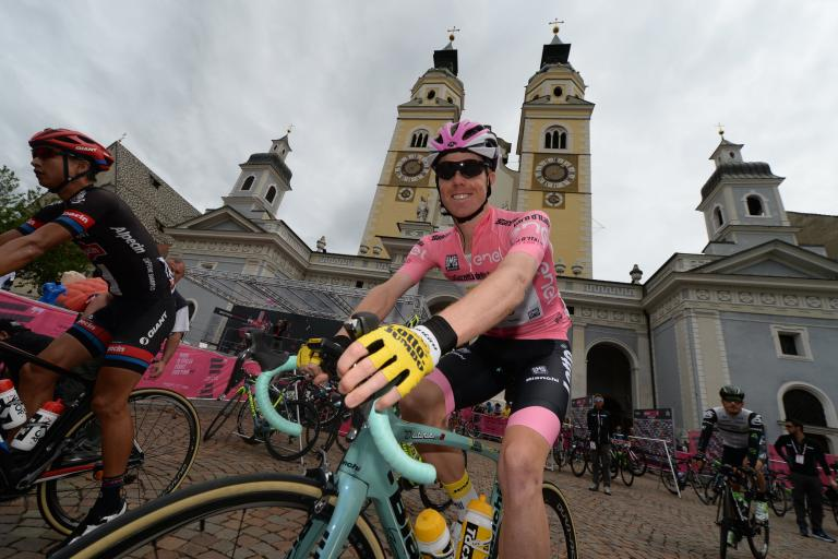 Steven Kruijswijk at start of 2016 Giro d'Italia Stage 16 (PHOTO CREDIT ANSA - PERI - DI MEO - ZENNARO).jpg