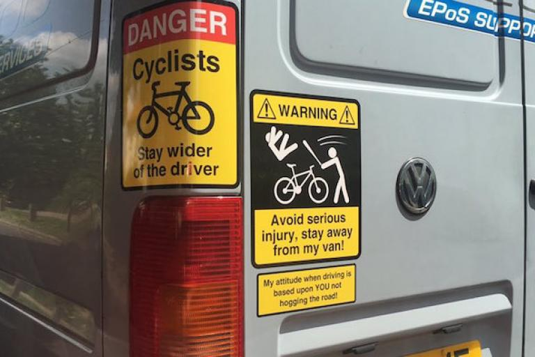 Stevenage van stickers (copyright Trevor Coultard).jpg