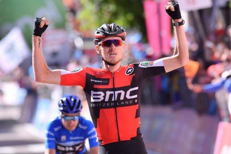 Tejay van Garderen wins Stage 18 of 2017 Giro d'Italia (picture credit LaPresse).jpg
