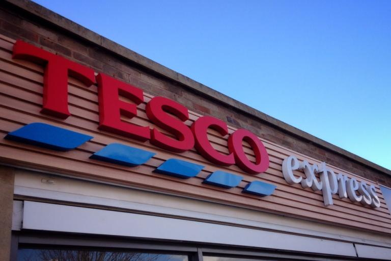Tesco Express fascia (copyright Simon MacMichael).jpeg