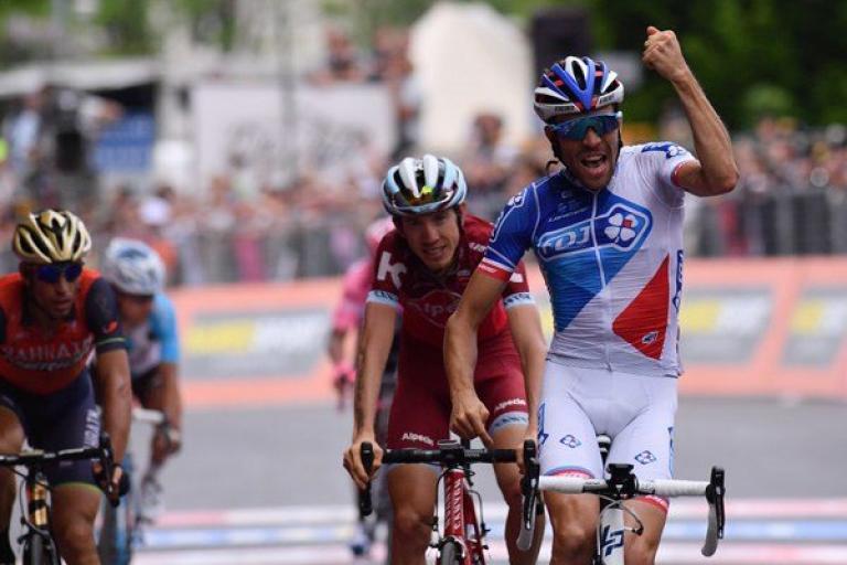 Thibaut Pinot wins Stage 20 of the 2017 Giro d'Italia (LaPresse - D'Alberto, Ferrari, Paolone, Spada).jpg