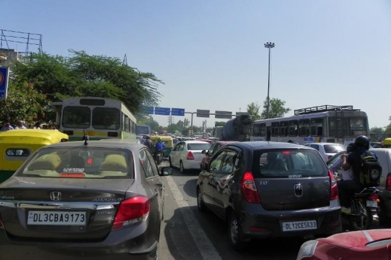 Traffic jam near Delhi (CC licensed by Veeresh Malik via Flickr).jpg